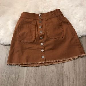 Madewell Burnt Sienna Button Down Mini Skirt J3992